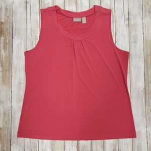 """Chico""""s Pink Sleeveless Blouse."""